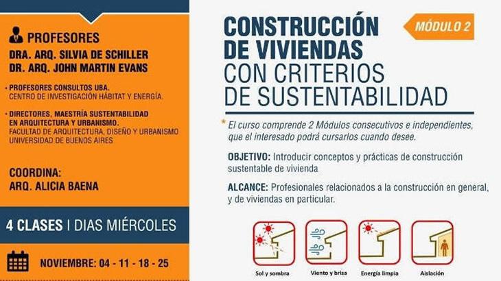 Curso: CONSTRUCCIÓN DE VIVIENDAS CON CRITERIOS DE SUSTENTABILIDAD